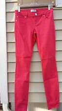 Womens Express Pink Jean Legging Low Rise Size 2