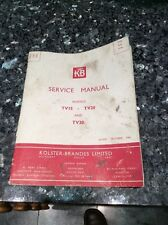 Kolster- Brandes Ltd KOLSTER-BRANDES KB Service Manual For Models Tv15 Tv20 Tv30