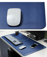 LL Blue Portable Leather Oversized Waterproof Office Desk Mouse Pad Mat 80*40cm
