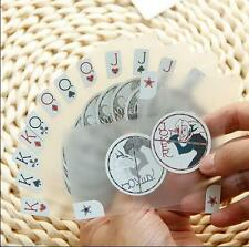 PVC Waterproof Invisible Translucent Cards Plastic Playing Texas Poker Card I