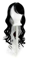 "30'' Long Curly w/ Long Bangs Natural Black, Snow White Cosplay ""Nia"" Wig NEW"