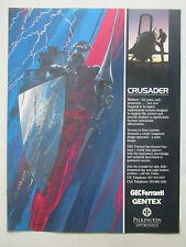 12/1991 PUB GEC FERRANTI GENTEX PILKINGTON CRUSADER HELMET CASQUE AVIATION AD