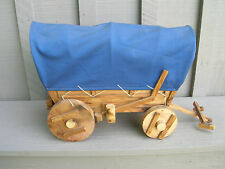 Old Vintage Wooden Covered Wagon ~ Prairie Schooner ~ Western Folk Art Decor