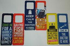 Doctor Who Set of 3 Two-Sided Door Knob Signs Door Hangers, 2013 NEW UNUSED