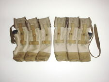 GERMAN ARMY WW2 WWII REPRO MP44 pouches for 6 mags AGED with rear strap