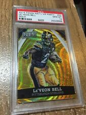 2015 Panini National VIP Party Le'Veon Bell Gold Wave Prizm #/15 PSA 10 Gem Mint