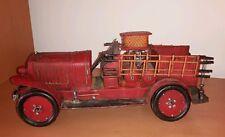 Alte Feuerwehr Modellauto Blechauto 35 cm Oldtimer  Feuerwehrauto