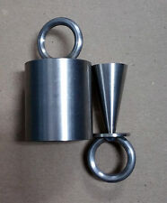 Stainless Steel Ice Time Lock Self-Bondage Warden for cuffs