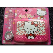 Hello Kitty's Children's Watch Wallet Set For Kids Boys Girls Christmas Gift