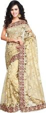 BLUEMOON'S Designer Sari Fabric Bollywood NET Embroidery Saree -249