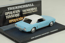 Movie James Bond Ford Mustang Cabrio Convertible/Thunderball 1:43 IXO