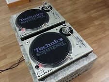 2 (Pair) TURNTABLES TECHNICS MK5  SL-1200 SILVER  Perfect State !!!!!!!