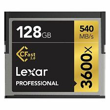 LEXAR ® 128gb Professional 3600x CFast ™ 2.0 CARD. fino A 540mb/s RD 445mb/s WRT