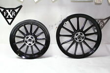 Harley FXR Dyna Sportster FL 16 & 19 mag wheels powdercoated BLACK 2000 EPS20131