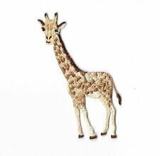 Iron On Embroidered Applique Patch Tan Spotted Giraffe Standing Facing Left