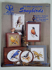 Vintage '99/00 SONGBIRDS Counted CROSS STITCH Patterns by JANET POWERS
