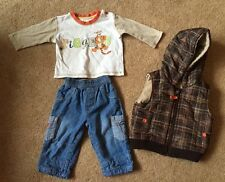 George Disney Tigger Piece Set Top Jeans Body warmer Gilet 3-6 Months