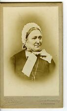FRANCE ST ETIENNE Crozet une femme pose bonnet dentelle CDV photo