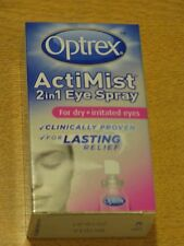 OPTREX ACTIMIST 2 IN 1 DRY + IRRITATED EYE SPRAY NEW/BOXED 10ml Expires 2018/19