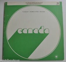 GEORGE LITTLE Conductor; CHORALE BACH de MONTREAL LP Record Canada
