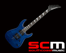 Jackson JS32TQ Quilted Maple Dinky Trans Blue Electric Guitar New with Warranty