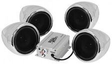 BOSS AUDIO 1000W 4-SPEAKER BLUETOOTH SOUND SYSTEM CHROME YAMAHA RHINO VIKING UTV
