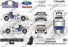 [FFSMC Productions] Decals 1/24 Ford RS 200 RAC 1986