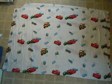 CARS Disney Pixar BED SHEET Top/Flat Movie Cartoon Twin Fabric NICE Sponsor Logo