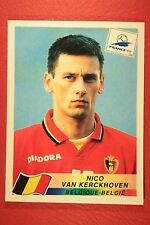PANINI WC WM FRANCE 98 1998 N 329 BELGIQUE VAN KERCKHOVEN WITH BLACK BACK MINT!!