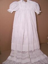 Antique Christening gown tucks and lace