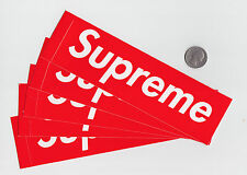 (5) Supreme New York Red Box Logo Stickers OFGKTA Palace Sup NY Classic