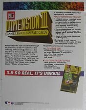 1995 Topps Dimension III Baseball Cards Sell Sheet (no product)