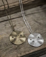 Tutti & Co. Jewellery Silver Disc Pendant Necklace cut out stars constellation