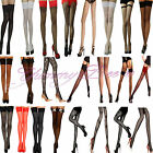 Yummy Bee Stockings Lace Hold Ups Sexy Seam Sheer Fishnet Tights Thigh Opaque XL