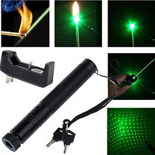 532nm 1mw 303 Green Laser Pointer Adjustable Focus Lazer Pen Beam+Charger Modish
