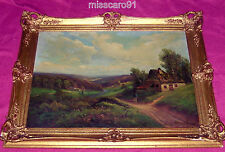 Antique  German Old Master Oil Painting Franz KRAUSE (1833-1878) Signature