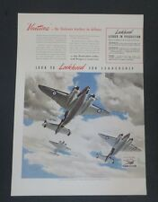 Original 1941 Print Ad LOCKHEED for Leadership Airline Hudson Vega Ventura