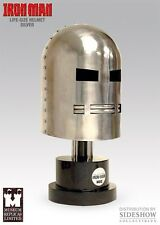MARVEL SIDESHOW MUSEUM IRON MAN SILVER LIFE SIZE HELMET PROP Replica NIB! Statue