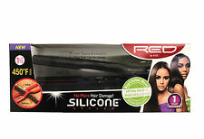RED BY KISS SILICONE STYLER 450 DEGREE MAX CERAMIC FLAT IRON (3 SIZES AVAILABLE)