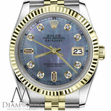Rolex 26mm Datejust 2Tone Tahitian MOP Mother of Pearl 6&9 Diamond Face RT