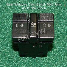 VW MK3 Jetta Golf Rear Window Switch Dual 1993-1998 Dashboard Dash 1H0959855A
