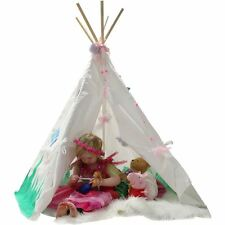 Childrens Kids Teepee Play Tent Indoor Outdoor Large 140 x 120 cm Canvas Wigwam