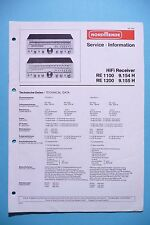 Service Manual instructions for Nordmende RE 1100/RE 1200 ,ORIGINAL