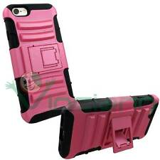 Custodia stand Rugged rinforzata  FUCSIA NERA per iPhone 6 4.7 6S doppio strato