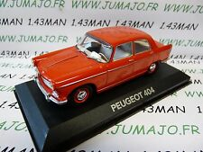 car 1/43 atlas NOREV car my father : PEUGEOT 404 red