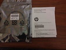 New Genuine HP DisplayPort To VGA Cable Adapter Black AS615AA 481408-003