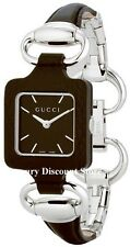 YA130403  NEW GUCCI 1921 LADIES WATCH Bangle brown Women's Stainless steel