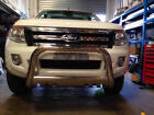 #998 Nudge Bar Stainless (With Spotlight Mounting Tab) For Ford Ranger 2012-2015