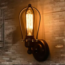 METAL VINTAGE INDUSTRIAL LOFT COFFEE RUSTIC SCONCE WALL LIGHT WALL LAMP FITTING