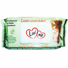 9 x 80pk LUVME Bamboo ECO Natural Baby Wet Wipes